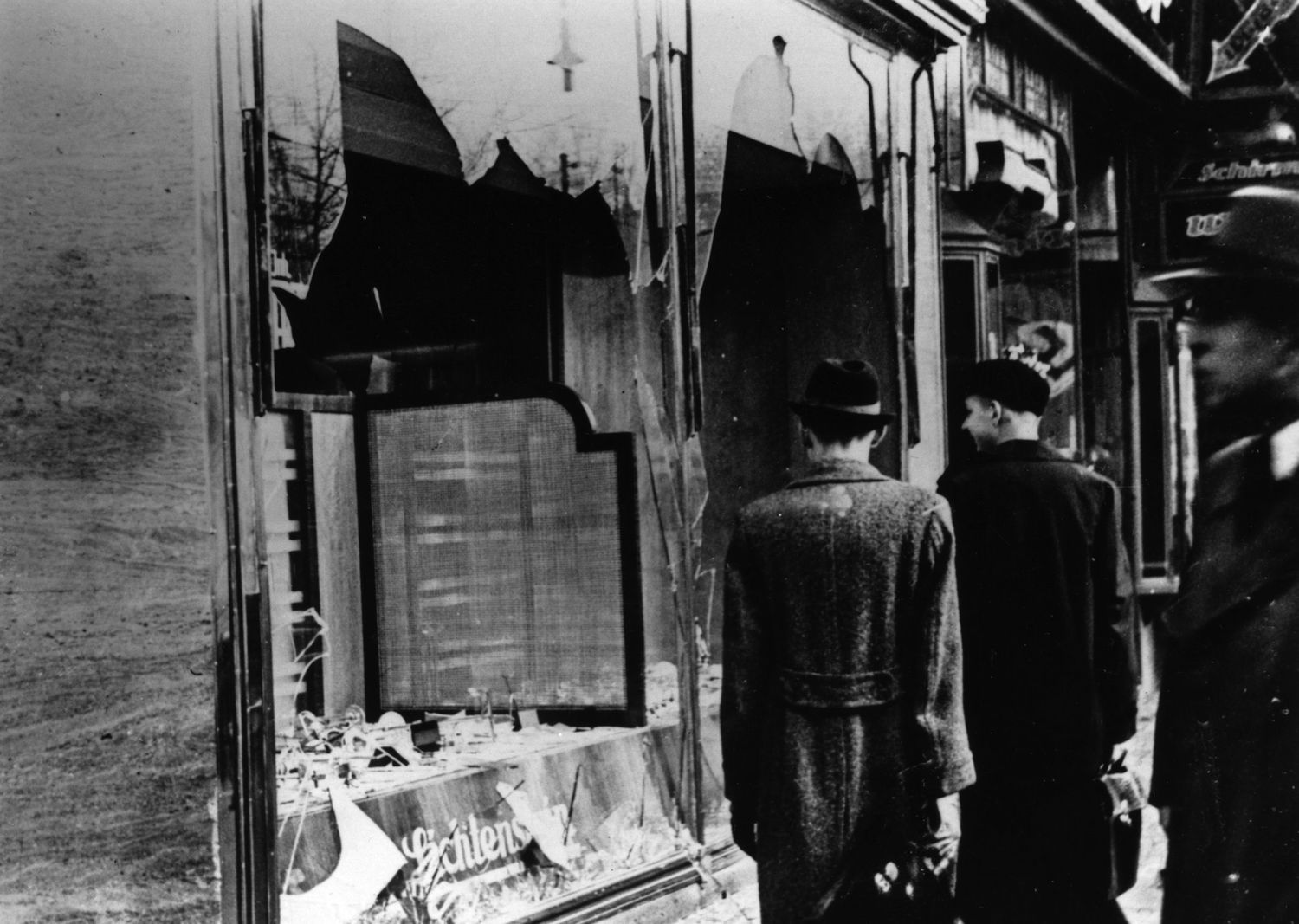 A Jewish store in Berlin in the aftermath of Kristallnacht